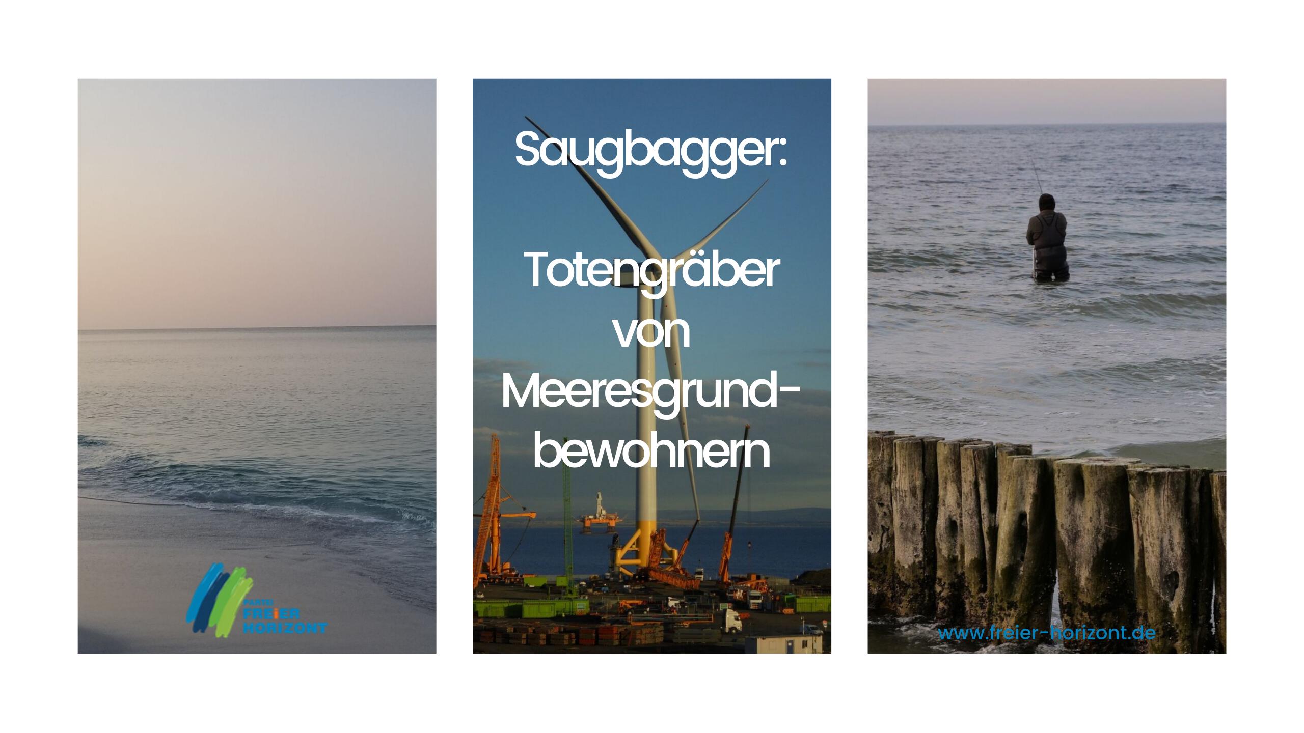 Freier Horizont - Offshore-Windparks Naturschäden -Saugbagger - Totengräber von Meeresgrundbewohnern